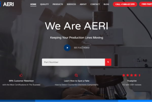 aeri new website preview