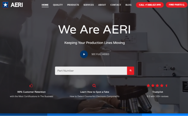 AERI Has a New Website Plus New Videos on How to Detect Counterfeit Parts